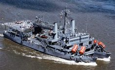 Submarine rescue Ship USS Pigeon-She is capable of carrying two deep submergence vehicles on her main deck.