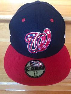 176ccf25ac4 NWT NEW ERA Washington NATIONALS DC 59FIFTY size 7 1 2 baseball cap hat All
