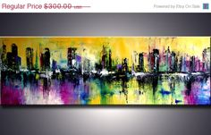 4th of july sale 72 XXL ORIGINAL Modern Abstract by ModernArtbyAda, $225.00