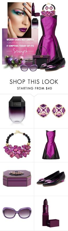"""""""Lavender and Purple"""" by nefertiti1373 ❤ liked on Polyvore featuring STELLA McCARTNEY, Chopard, Nest, Theia, Rupert Sanderson and Lipstick Queen"""