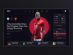 ESPN. UI redesign concept by Nick Zaitsev | Dribbble