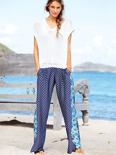 Mid-rise Palazzo Pant loove these for summer . Victoria Secret