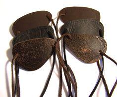 Darkwear Clothing Leather Metal Gear Eye Patch in 6 choices by Darklysewn, $20.00