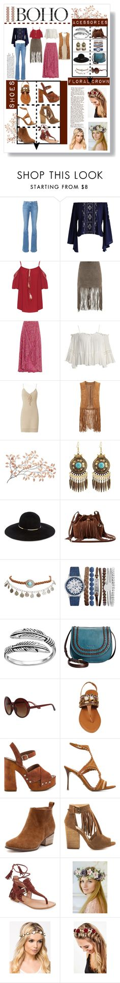 """Boho Style"" by dudamonteiroo ❤ liked on Polyvore featuring Frame Denim, Chicwish, WearAll, MuuBaa, ViX, Sans Souci, Exclusive for Intermix, Monsoon, Eugenia Kim and Diane Von Furstenberg"