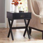 Better Homes and Gardens X-Leg Accent Table with Drawer, Multiple Colors This contemporary accent table is a stylish focus or complement to any room. It's an eye-catching piece for any decor color scheme. Table And Chairs, End Tables, A Table, Accent Furniture, Living Room Furniture, Home Furniture, Metal Furniture, Tufted Storage Ottoman, Bedroom Night Stands