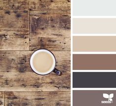 This wood inspired color palette is a beautiful scheme for incorporating both modern and rustic tones.