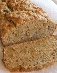 Banana Coconut Loaf - made this today and it may be my new favorite bread! I pulsed the coconut so the pieces wouldn't be too big for Audrey and used sweetened coconut. Used half maple syrup and half agave nectar and the oil I used was coconut oil. When it came out of the oven it actually smelled buttery and rich, I am so happy to find a good bread recipe with no dairy or eggs!