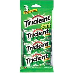 Trident: w/Xylitol 18 Sticks Spearmint Sugarless Gum, 3 Pk