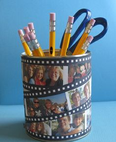 Photo Crafts for the Dorm: Pencil Cup
