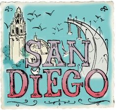 San Diego city guide via Design Sponge. Remember for January! Moving To San Diego, San Diego Travel, San Diego City, San Diego Zoo, Monuments, America's Finest, California Dreamin', Illustrations, Oh The Places You'll Go