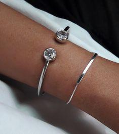 Lovely Silver cactus design bijoux bagues ouverture Réglable Bagues