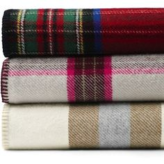 Lands' End Pendleton Plaid Blanket ($289) ❤ liked on Polyvore featuring home, bed & bath, bedding, blankets, tartan blanket, tartan plaid blanket, multi color bedding, leaf bedding and woven wool blanket