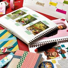 Des albums-photos décorés de masking tape // Photo albums custom with masking tape