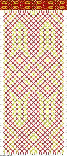 Muster # 39967, Streicher: 26 Zeilen: 60 Farben: 5