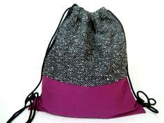 Turnbeutel aus Baumwolle und Boucle // gym bag, cotton & boucle via DaWanda.com