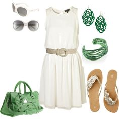 Green and white.