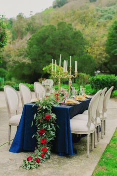 Beauty and the Beast inspired table decor