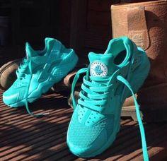 Custom Nike Air Huarache Teal Dope Swag Trainers