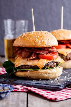 Pin for Later: 20 Cheeseburgers So Good They Might Make You Emotional Classic Bacon Cheeseburgers Get the recipe: classic bacon cheeseburgers