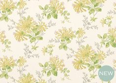 Honeysuckle Trail Camomile Yellow Floral Wallpaper- 50% Off Laura Ashley wallpaper currently (10/01/2014)