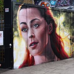 "2/3 - ""A #Muse that captures my soul to a levitating high power for creation.."" / #StreetArt by @whoamirony at Camden Town.. / #Art #Artist #Artwork #StreetArtEverywhere #Paint #SprayPaint #StreetPhotography #Graffiti #Draw #WallArt #Mural #Illustration #UrbanArt #StreetArtPhotography #Photographer #RedHead / #London #CamdenTown #LondonStreetArt / #NW1 #Guanabana"