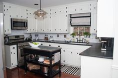 Get inspired by Traditional Kitchen Design photo by Space Reshape. Wayfair lets you find the designer products in the photo and get ideas from thousands of other Traditional Kitchen Design photos. Kitchen Designs Photos, Kitchen Images, Kitchen Ideas, Traditional Kitchen, Black And White, Space, Room, House, Inspiration