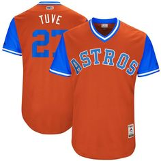 "Jose Altuve ""Tuve"" Houston Astros Majestic 2017 Players Weekend Authentic Jersey - Orange - $199.99"