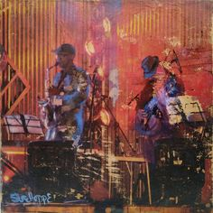 Shop online for affordable art. All That Jazz by Sue Hoppe, mixed media with encaustic on board size 25 x 25 x Art Online, Online Art Gallery, All That Jazz, Affordable Art, Mixing Prints, Digital Prints, African, Music, Artwork