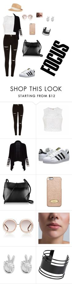 """Focus on This"" by smokeylovebae ❤ liked on Polyvore featuring River Island, Ally Fashion, BCBGMAXAZRIA, adidas Originals, Kara, MICHAEL Michael Kors, Chloé, Amorium, Rock 'N Rose and Topshop"