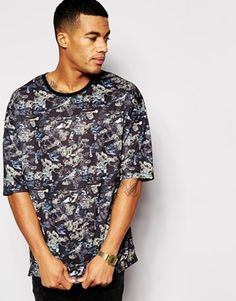 ASOS+Oversized+T-Shirt+With+Camo+All+Over+Print