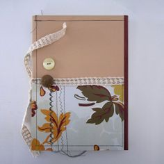 Natural Notebook with Crochet Ribbon Closure by GdesignWorkshop, $14.00