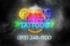 """Bay City Tattoos in Tampa Florida  (Ybor City to be exact) 1632 E. 7th Ave 8132481100 we are open Monday thru Thursday noon till midnight, Friday and Saturday noon till 2am and Sunday 2pm till 10pm. We also do body piercing, including Dermals, and Permanent Makeup.  Appointments are a good idea,  but we welcome walk ins.  Jak, Jay, Jeff, John and Mike are here to """"Make Your Body Art"""" have your own design, no problem, want us to customize one for you, happy to. What ever is in your heart, we…"""