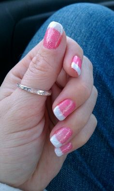 Gel nails pink and white - how you can do it at home. Pictures designs: Gel nails pink and white for you White Gel Nails, Gel Nails French, Pink Nails, Fabulous Nails, Gorgeous Nails, Pretty Nails, Hot Nails, Hair And Nails, Gel Nails Pictures