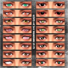 02 set abnormal eyes at All by Glaza