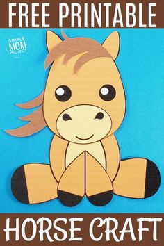 Looking for an easy horse craft in your next farm theme? Click now to make this cute DiY horse art project. With the FREE printable template, any toddler, preschooler and kid can do it! Choose to color your horse craft or make it. Choice is yours! Farm Animal Crafts, Farm Crafts, Animal Crafts For Kids, Fun Diy Crafts, Horse Crafts, Dog Crafts, Crafts For Kids To Make, Projects For Kids, Art Projects