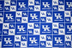 University of Kentucky Fabric 1/2 Yard Continuous Piece, College Fabrics, NCAA Fabrics Quilting Fabrics 100% Cotton by HandmadebyShelia on Etsy