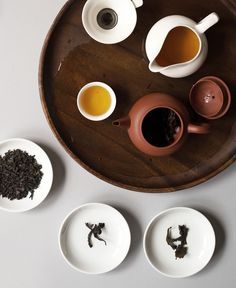 Pairing tea with food, an oolong tea  with Don Bocarte anchovies and bluefin tuna.