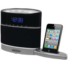 JENSEN JiMS-185i iPhone(R)/iPod(R) Docking Alarm Clock Radio with Night-Light