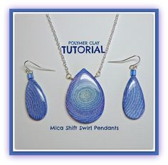 Tutorial  How to Create Polymer Clay Mica Shift Swirl Pendants PDF Lesson. via Etsy.