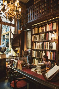Library study room, future library, dream library, library design, home lib Library Room, Dream Library, Future Library, Library Bar, Reading Library, Beautiful Library, Vintage Library, Home Libraries, Book Aesthetic