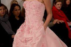 Pink dress - Oscar de la Renta.