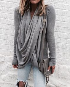 Wrap Cardigan so soft and comfortable TTS wearing size small // Jeans // Chloe Marcie Bag Sharing some of my…