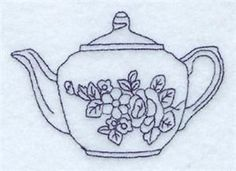 Teapot embroidery pattern