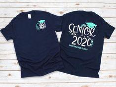 Senior Games, Senior Activities, Senior Shirts, Graduation Shirts, Iron Shirt, Monogram Shirts, Class Of 2020, School Colors, Diy Shirt