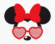 Minnie mouse with glasses svg dxf pdf jg studio products Mickey Minnie Mouse, Disney Mickey, Disney Art, Mickey Mouse Wallpaper, Wallpaper Iphone Disney, Disney Silhouette Art, Disney Crafts, Disney Shirts, Disney Trips
