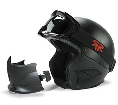RG-1 Core Ski and Snowboard Matte Black Helmet - Shell, Comfort Liner, Helmet Jaw Guard, Goggle and Ski Mask