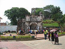 """""""A Famosa"""": Porta de Santiago, Malaca, Malásia."""