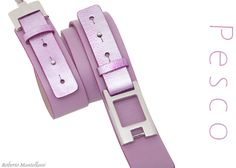 Pesco C15 belt with silver accessory by Roberto Mantellassi
