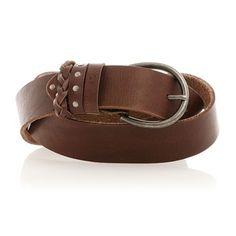 Ceinture - en cuir marron - Bonobo Jeans - Ref: 1361939   Brandalley