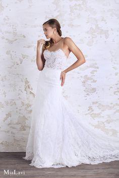 Romantic wedding dress 1718, Mia Lavi 2017